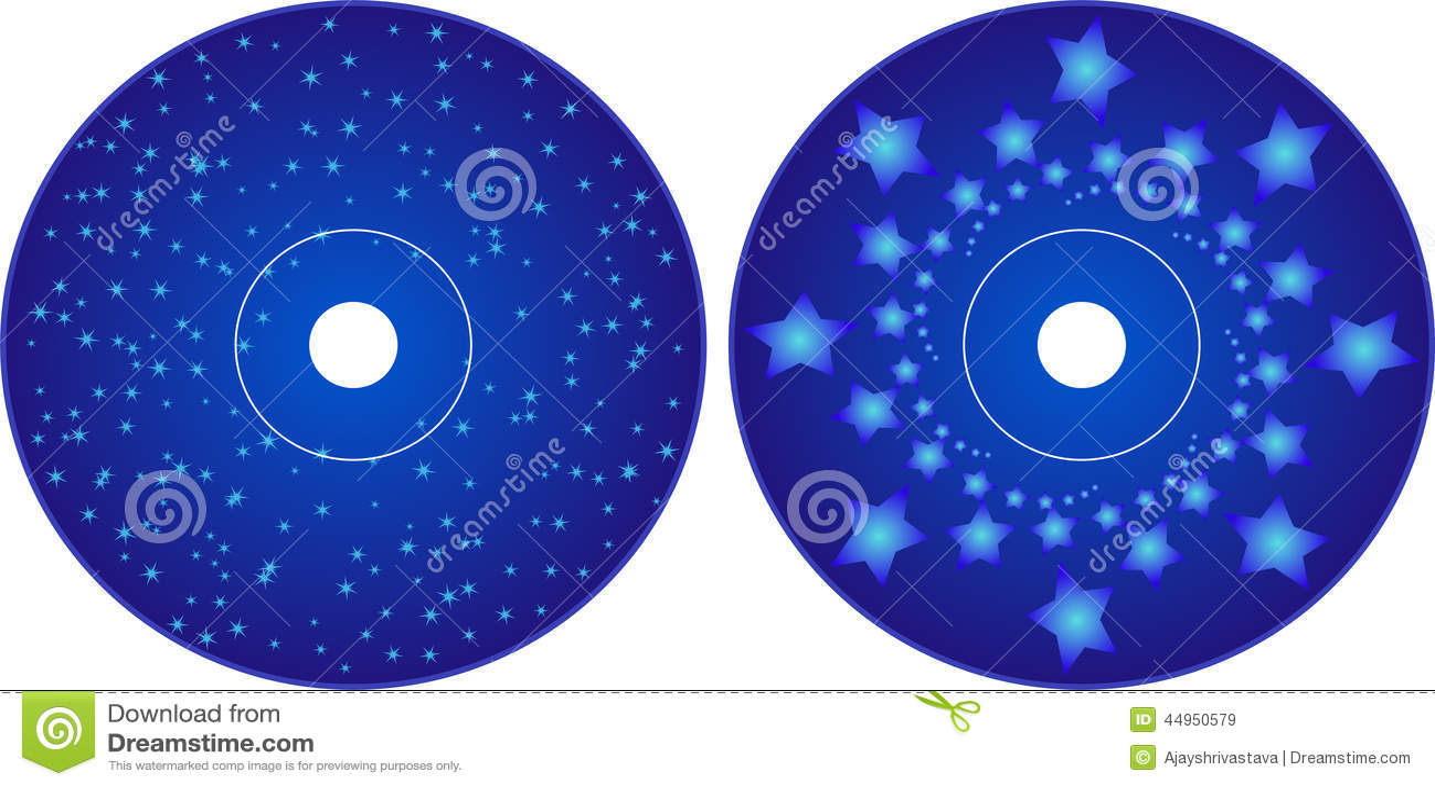 cd - dvd label design template stock vector