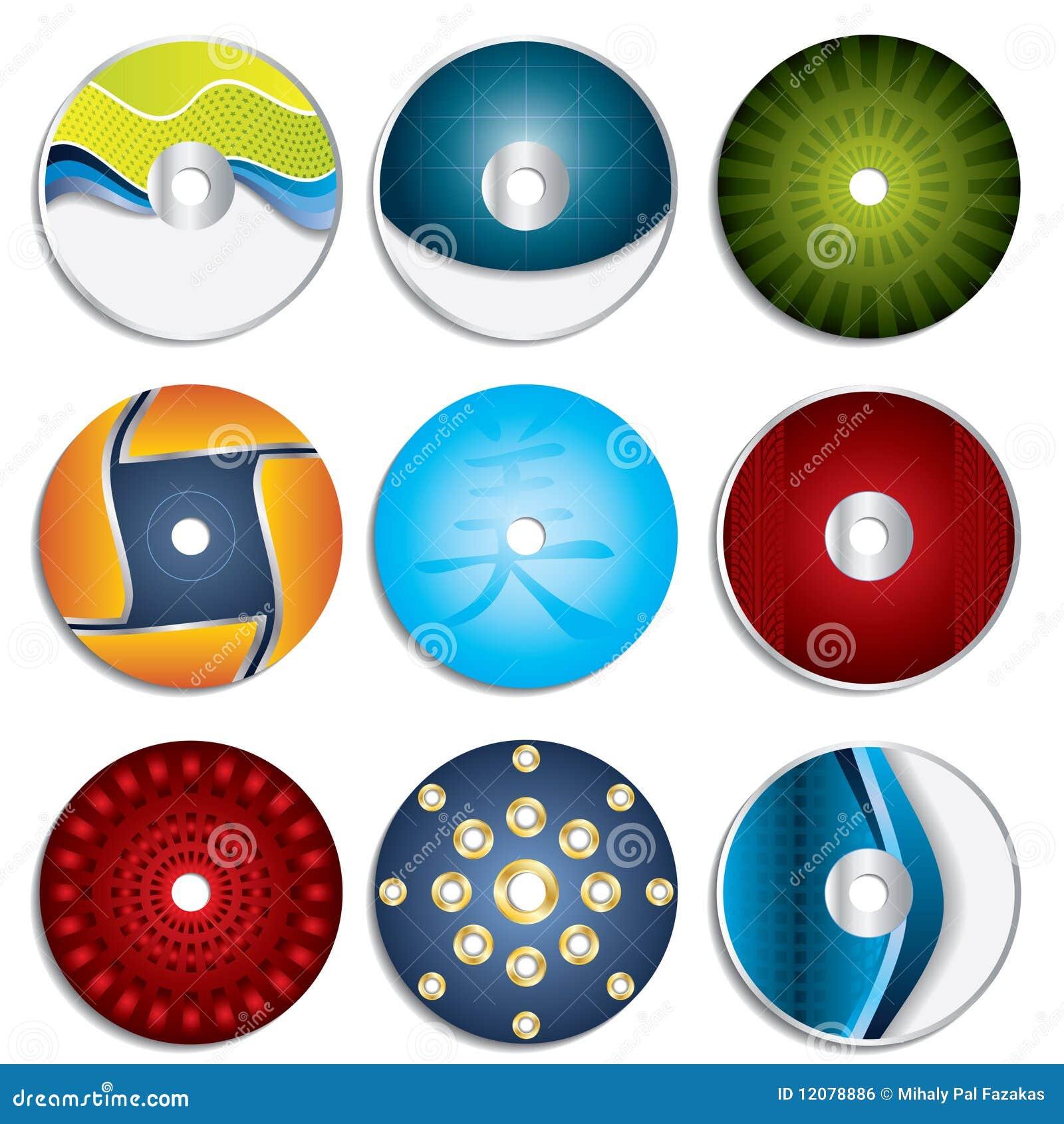 CD & DVD Label Designs 3 Royalty Free Stock Image - Image