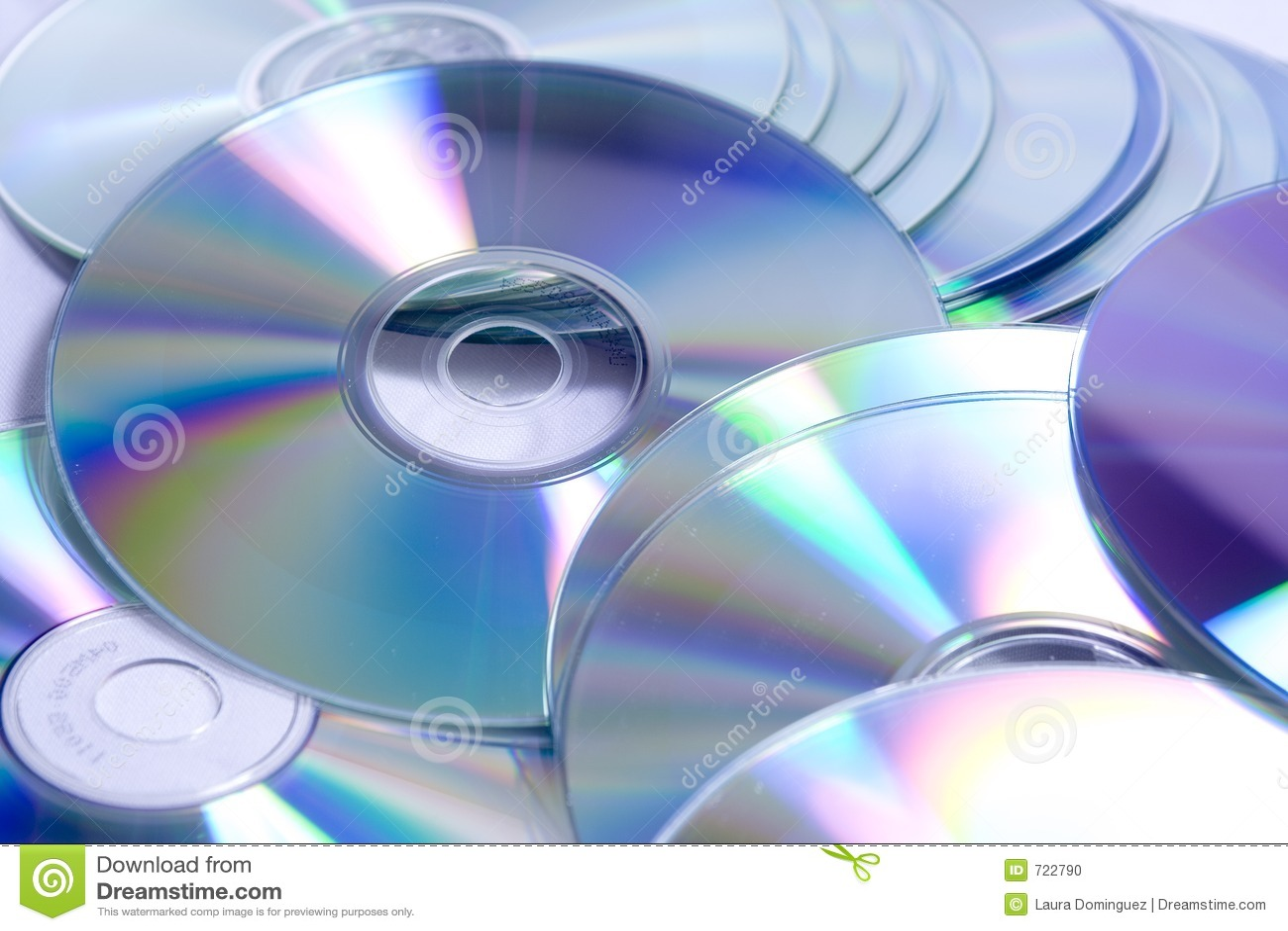 CD DVD pile