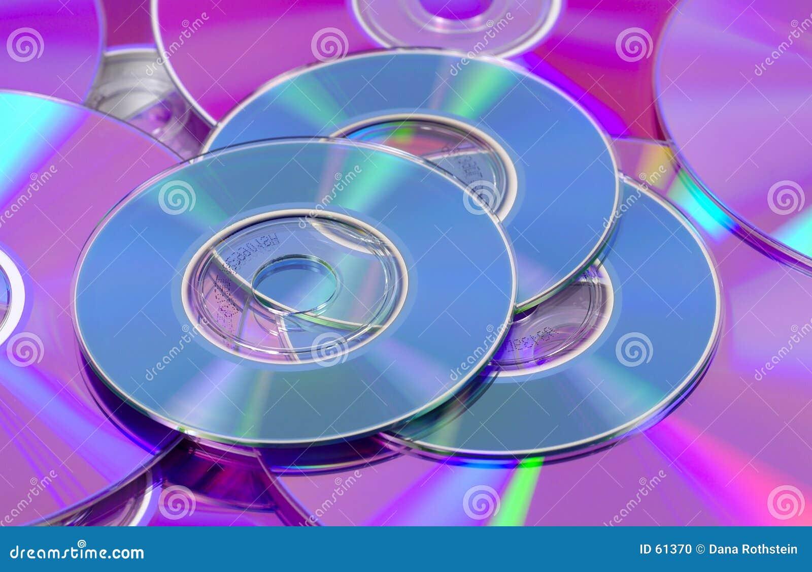 Download Cd et DVDs photo stock. Image du couleur, bleu, arc, r3fléchissant - 61370