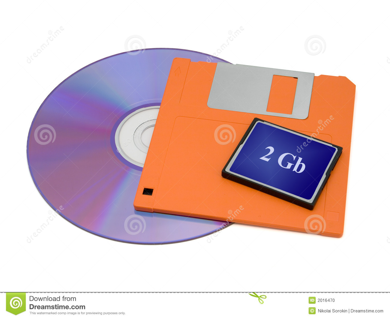 Cd Floppy Disk And Flash Card Stock Photo Image 2016470