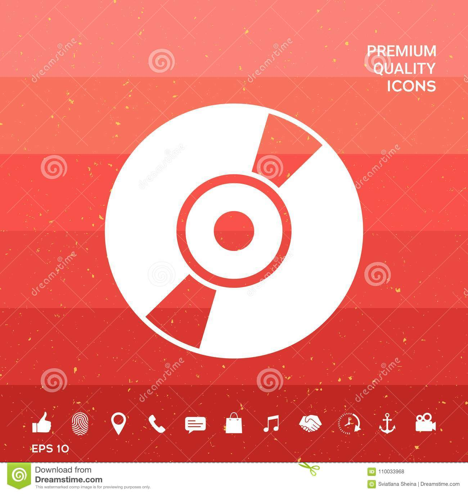 CD, icône de symbole de DVD