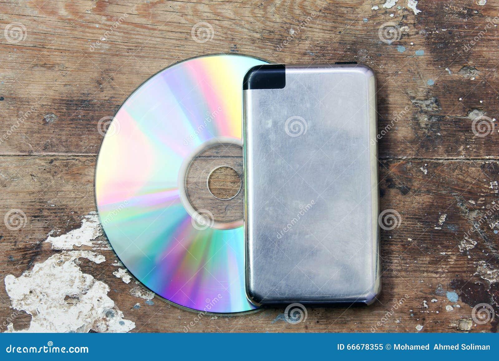 CD med musikspelaren
