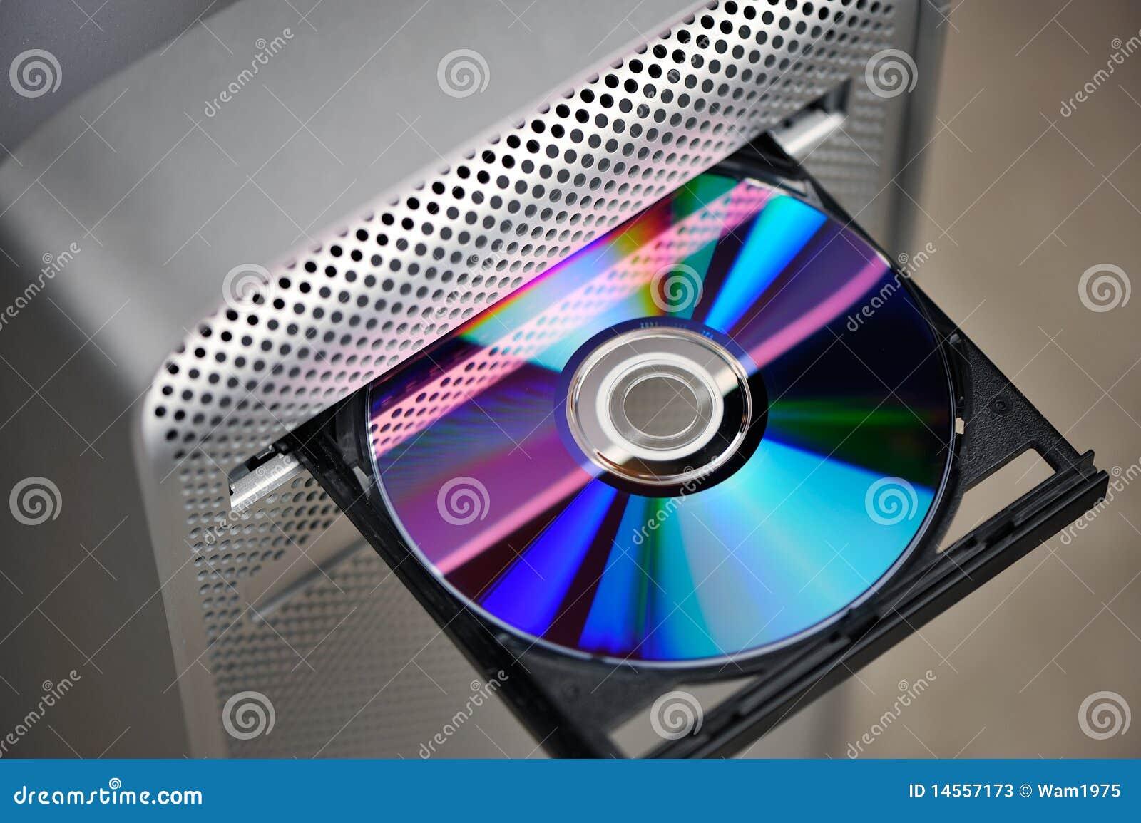 CD ou DVD na movimentação do computador