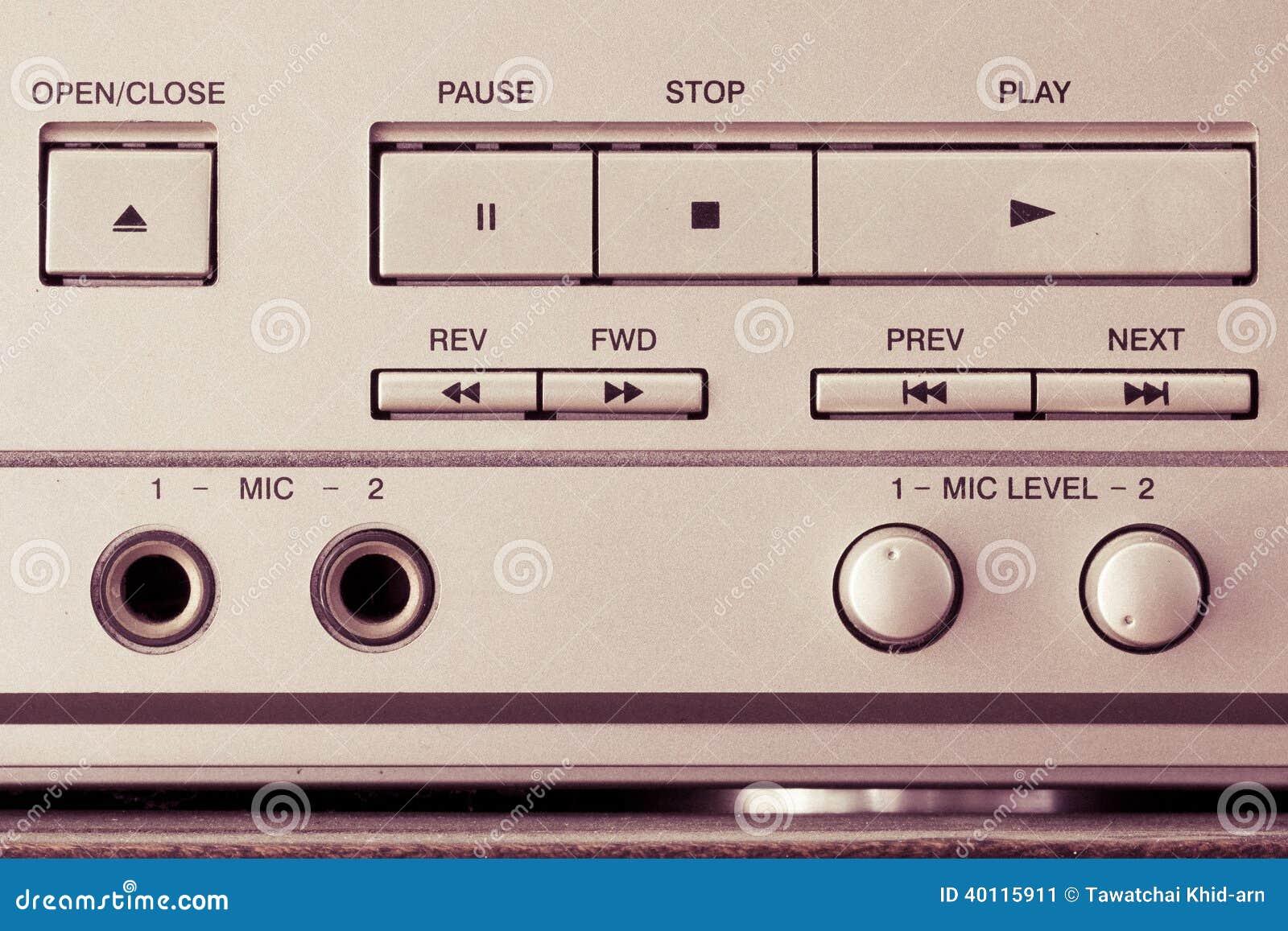 Cd player knopfe retro stockbild bild von musik for Küchen kn pfe