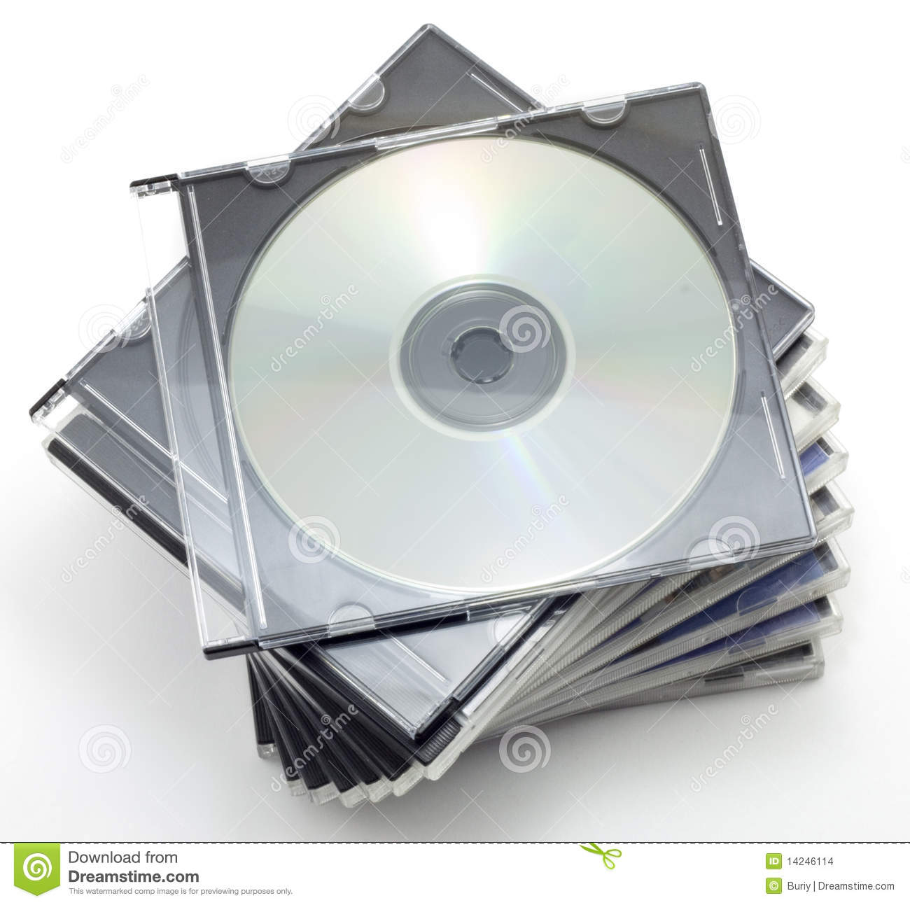 CD-ROM In A Box Stock Images - Image: 14246114