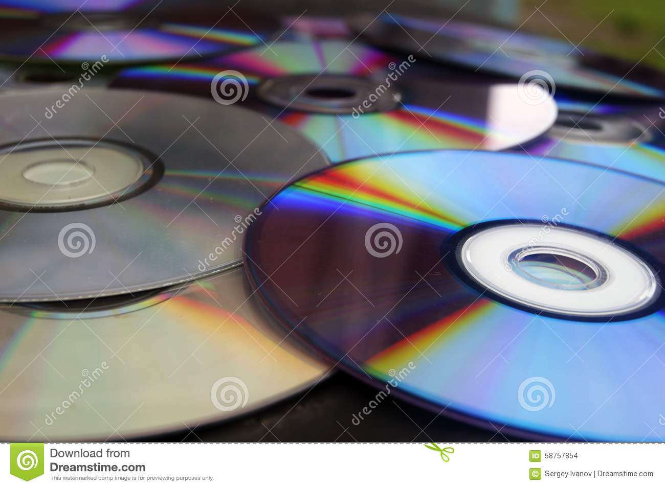 The cd rom a computer storing data