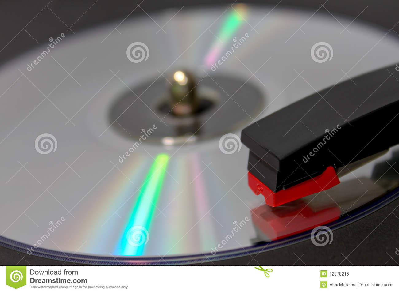 Cd Spinning On Vinyl Record Player Royalty Free Stock