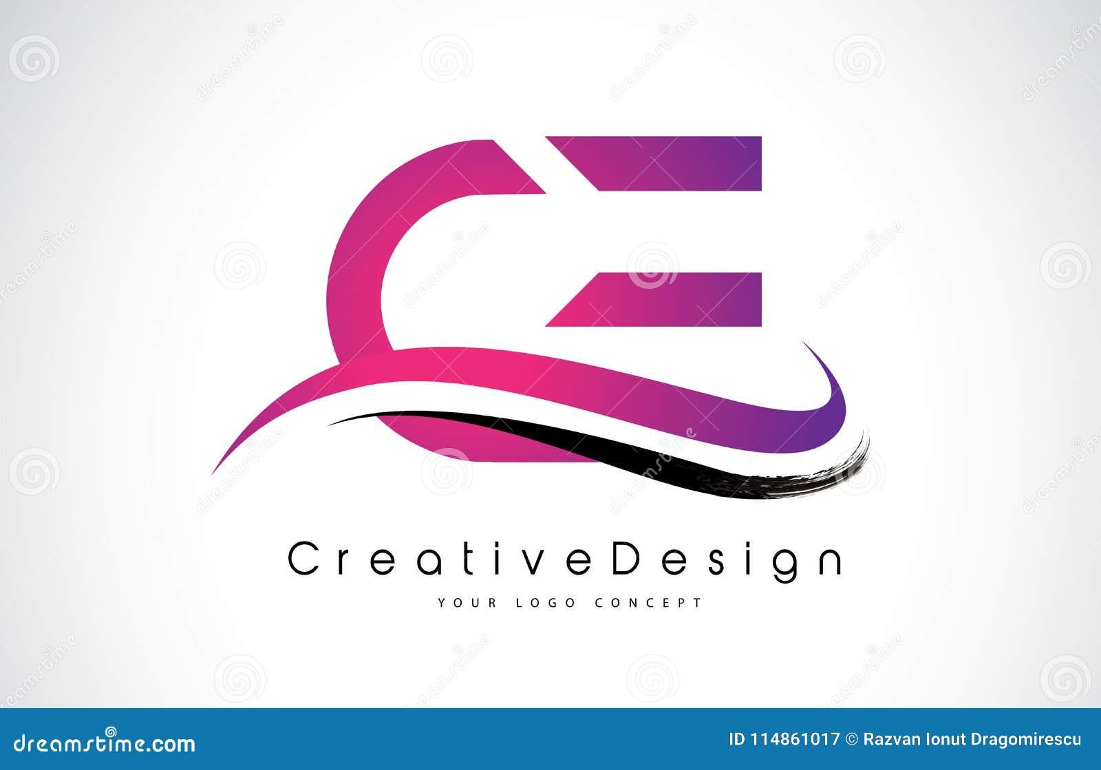 CE C E Letter Logo Design. Creative Icon Modern Letters Vector L ...