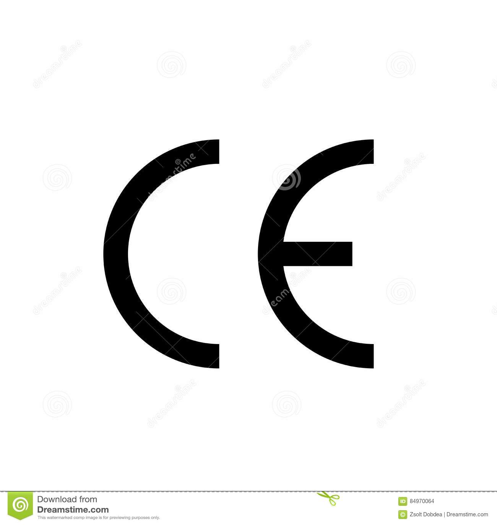 Ce mark symbol vector design stock vector illustration of.