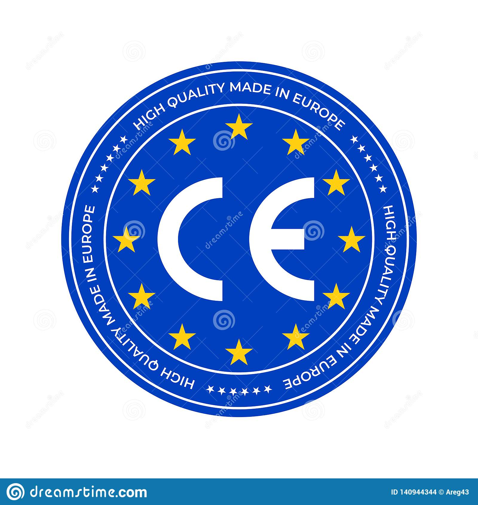 CE Marking Label Or European Conformity Certification Mark