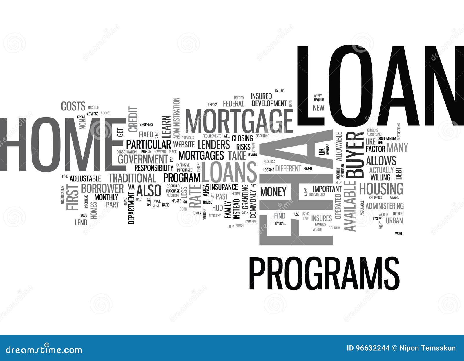Ce qui est un nuage de Word de prêt hypothécaire de Fha