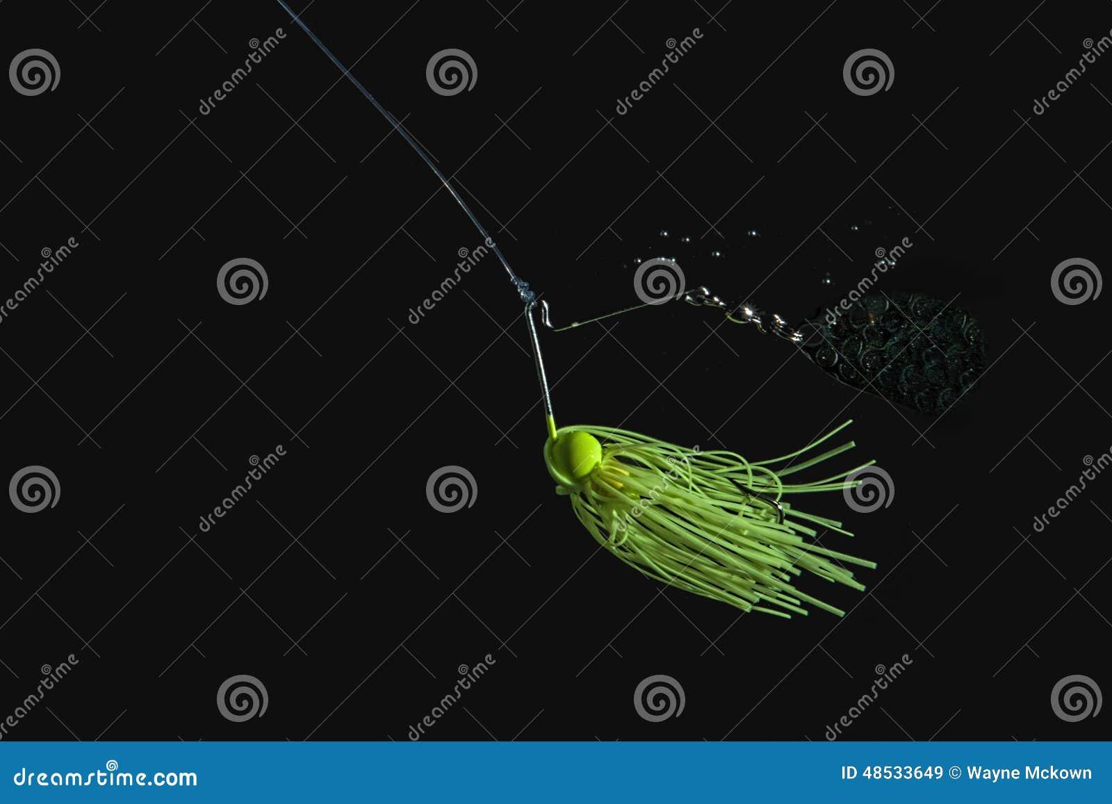 Cebo de pesca verde del hilandero