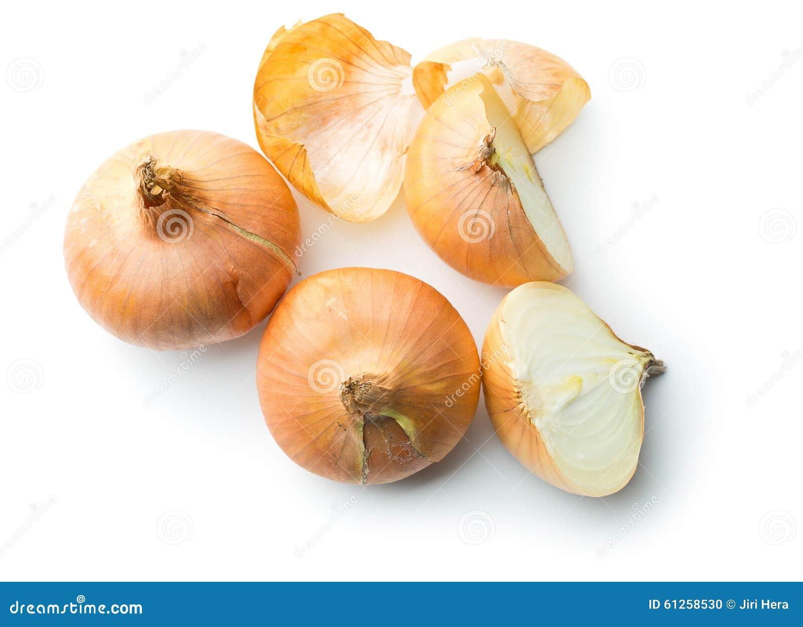 Cebolla fresca partida en dos