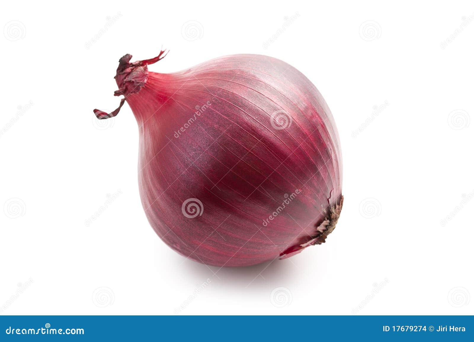 Cebolla roja en blanco