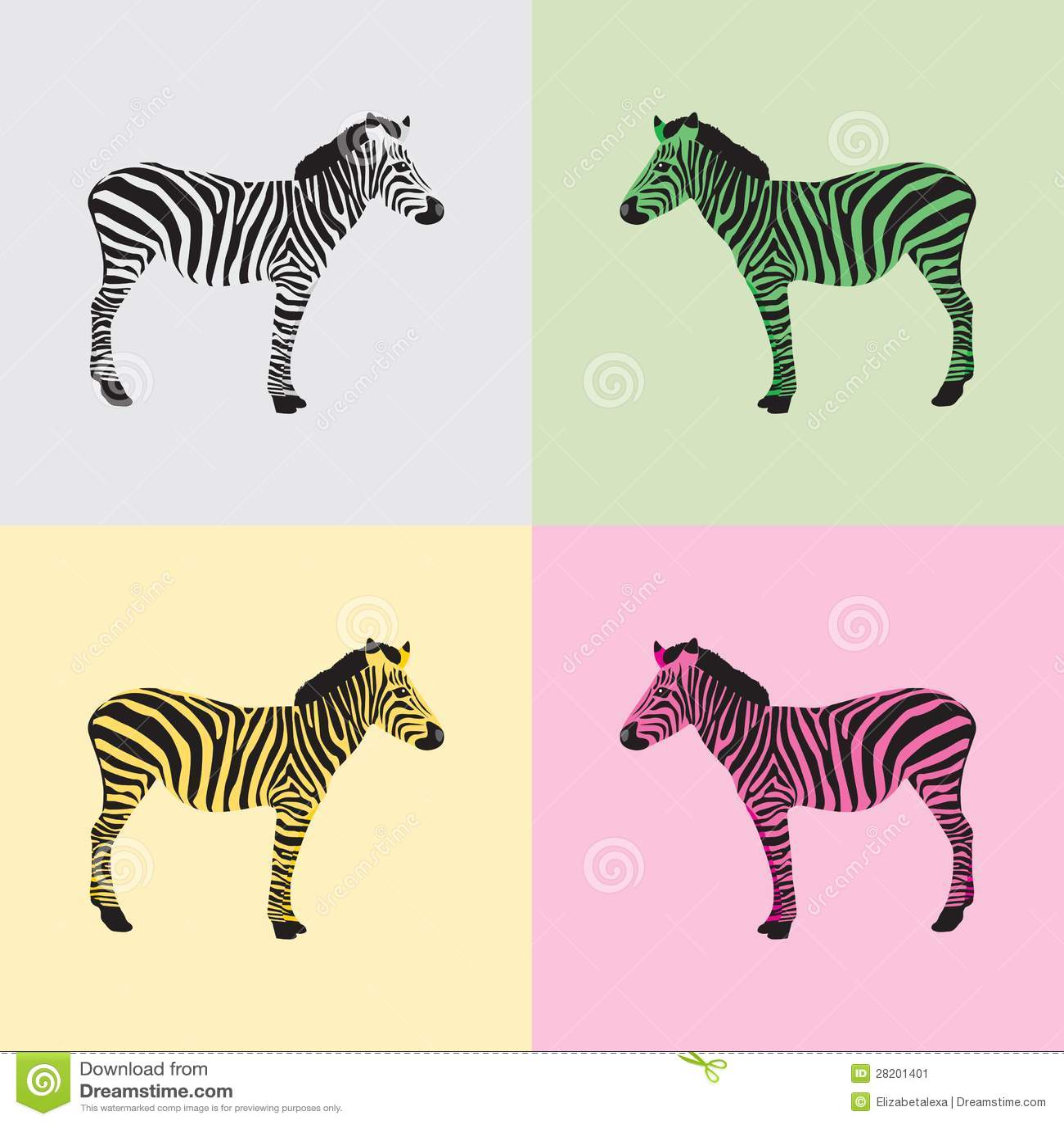 Hermosa Páginas De Color Cebra Bandera - Ideas Creativas para ...