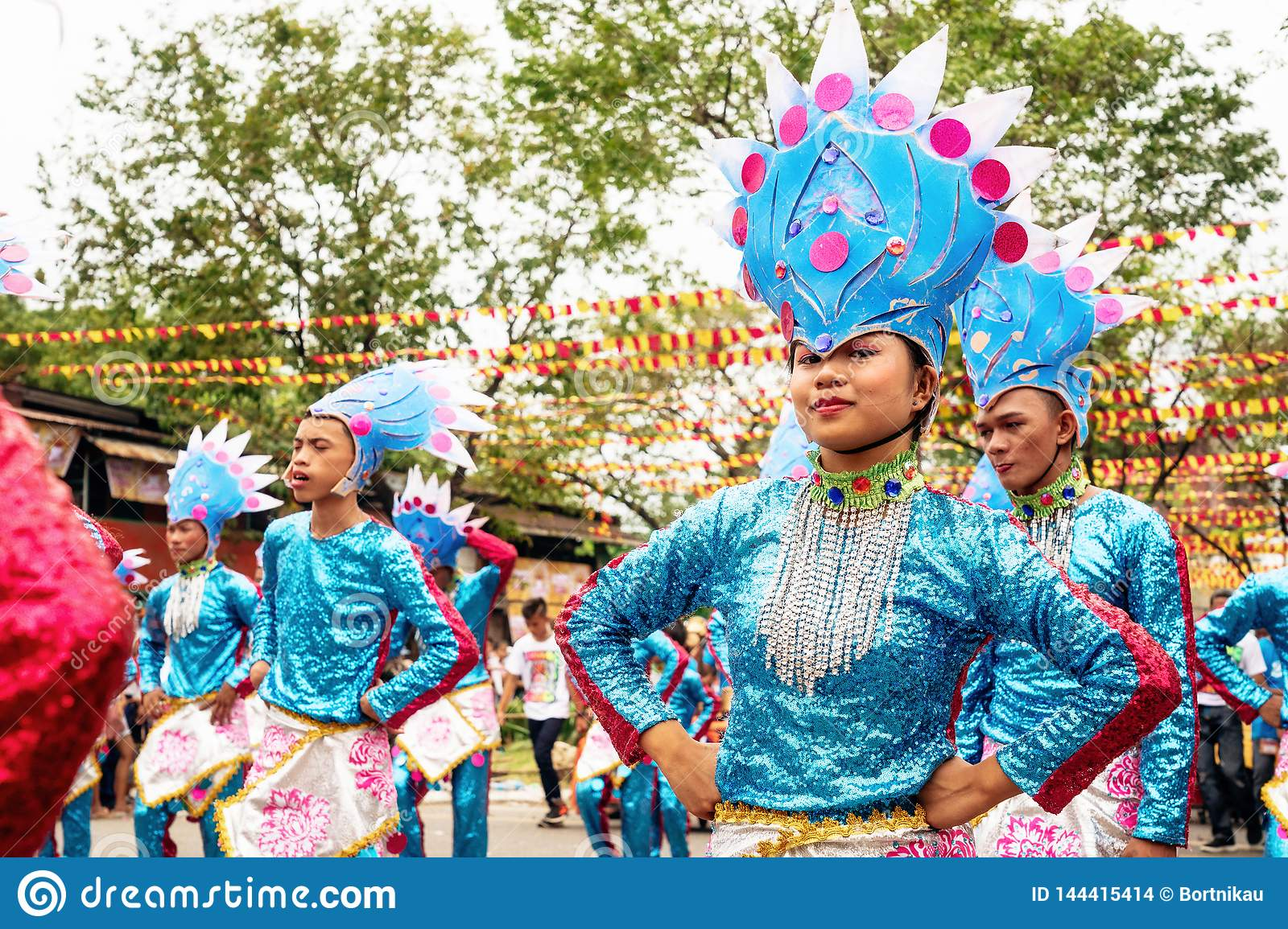 Participate In The Parade At The Sinulog Festival Editorial