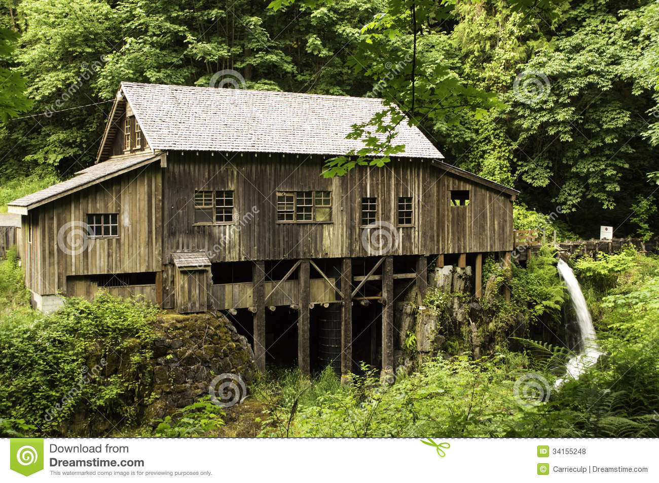 Cedar creek grist mill royalty free stock photos image for The cedar mill