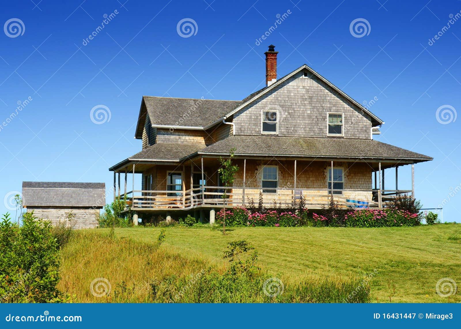 Cedar shingle house royalty free stock photography image for Cedar shingle house