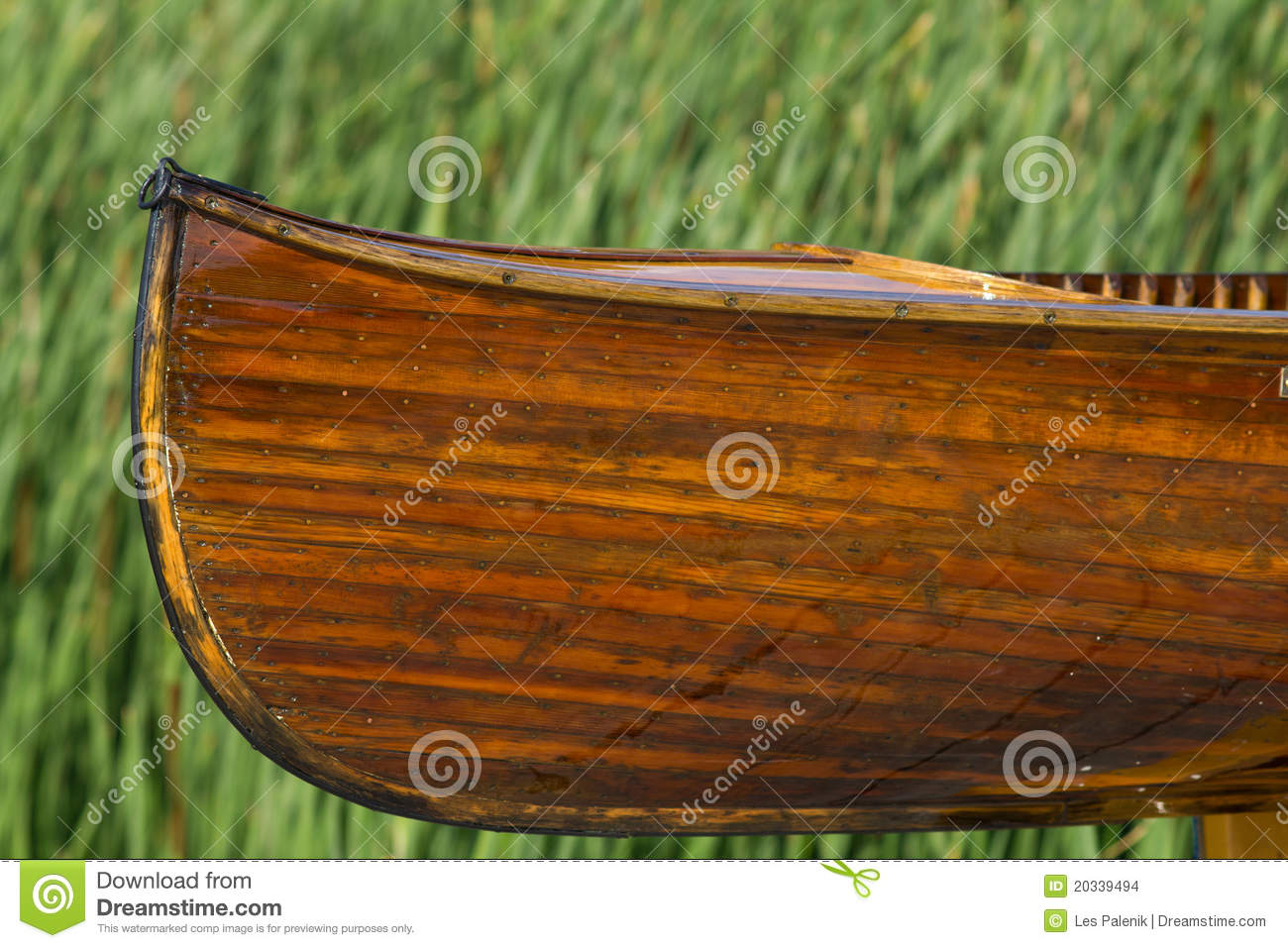 Cedar Strip Handmade Canoe Stock Images - Image: 20339494