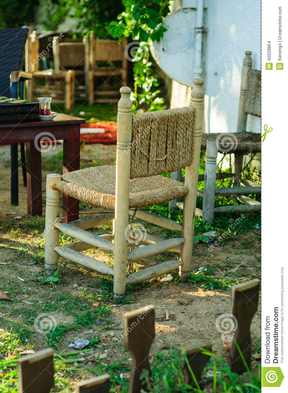 Cedarwood chairs stock photo image of landscape for Small cute chairs
