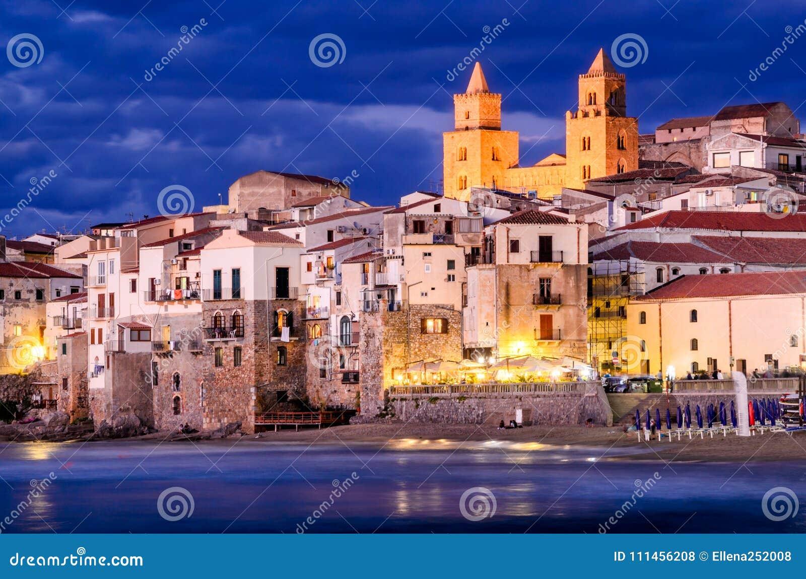 Cefalu coastline, Sicily, Italy