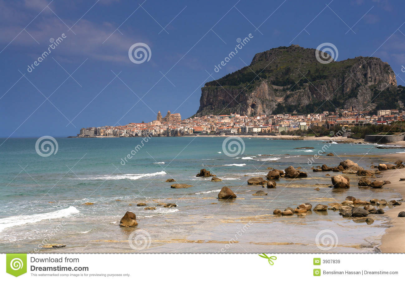 Cefalu village from sicily