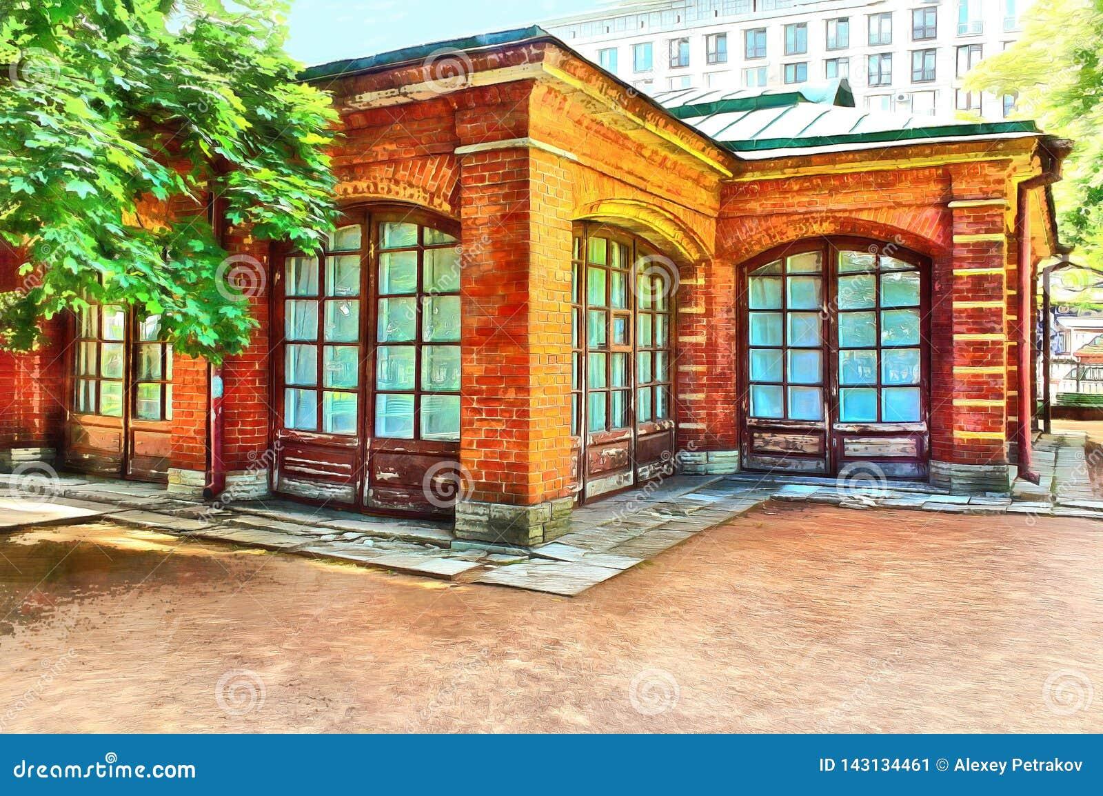 Cegła dom Tsar Peter Wielki