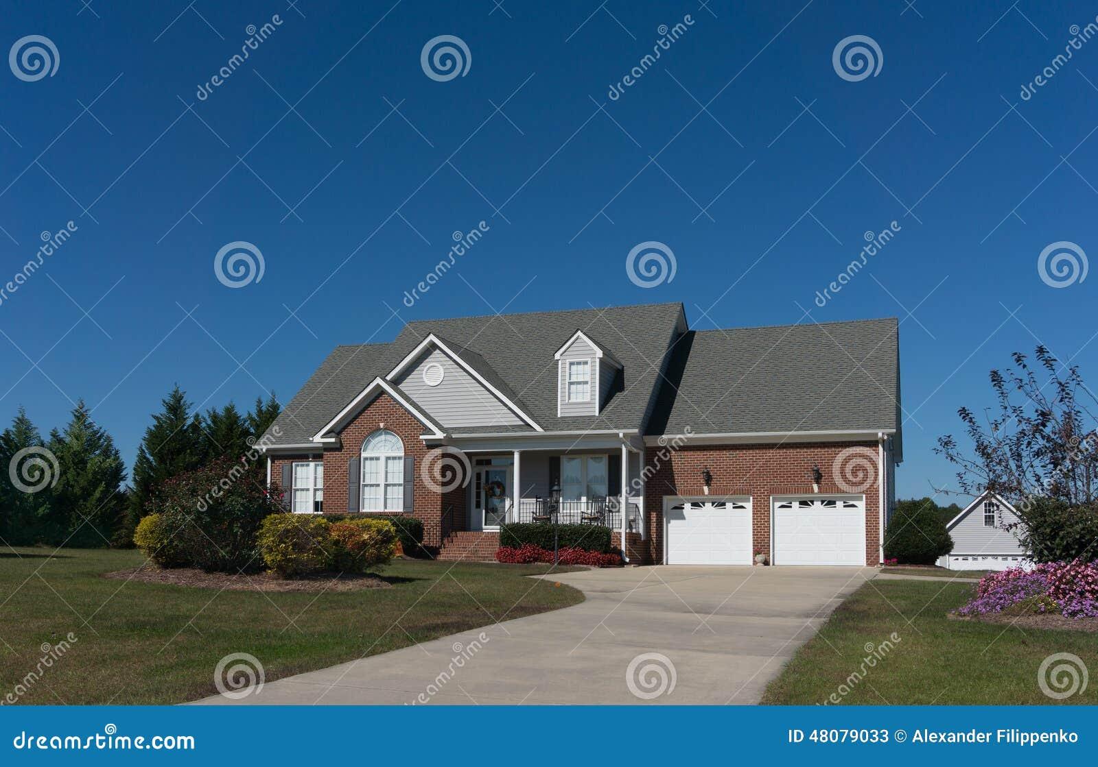 Cegła dom w Pólnocna Karolina