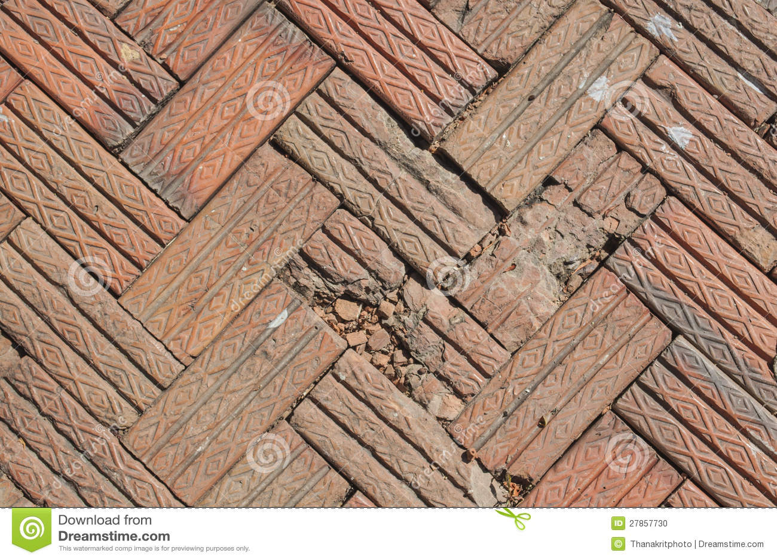 Cegły dachówkowa podłoga