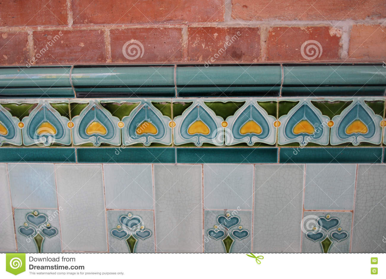 Cegły i płytki wzór