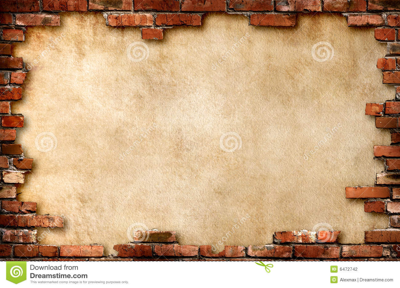 Cegły ramowej grungy ściany