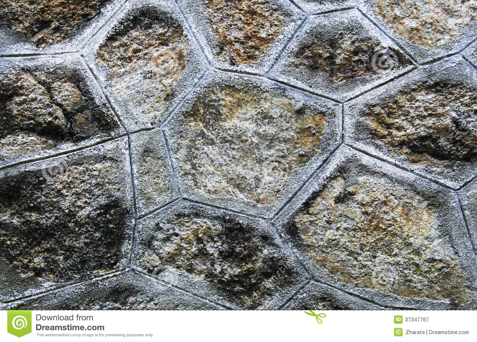 Ceglana kamienna ściana