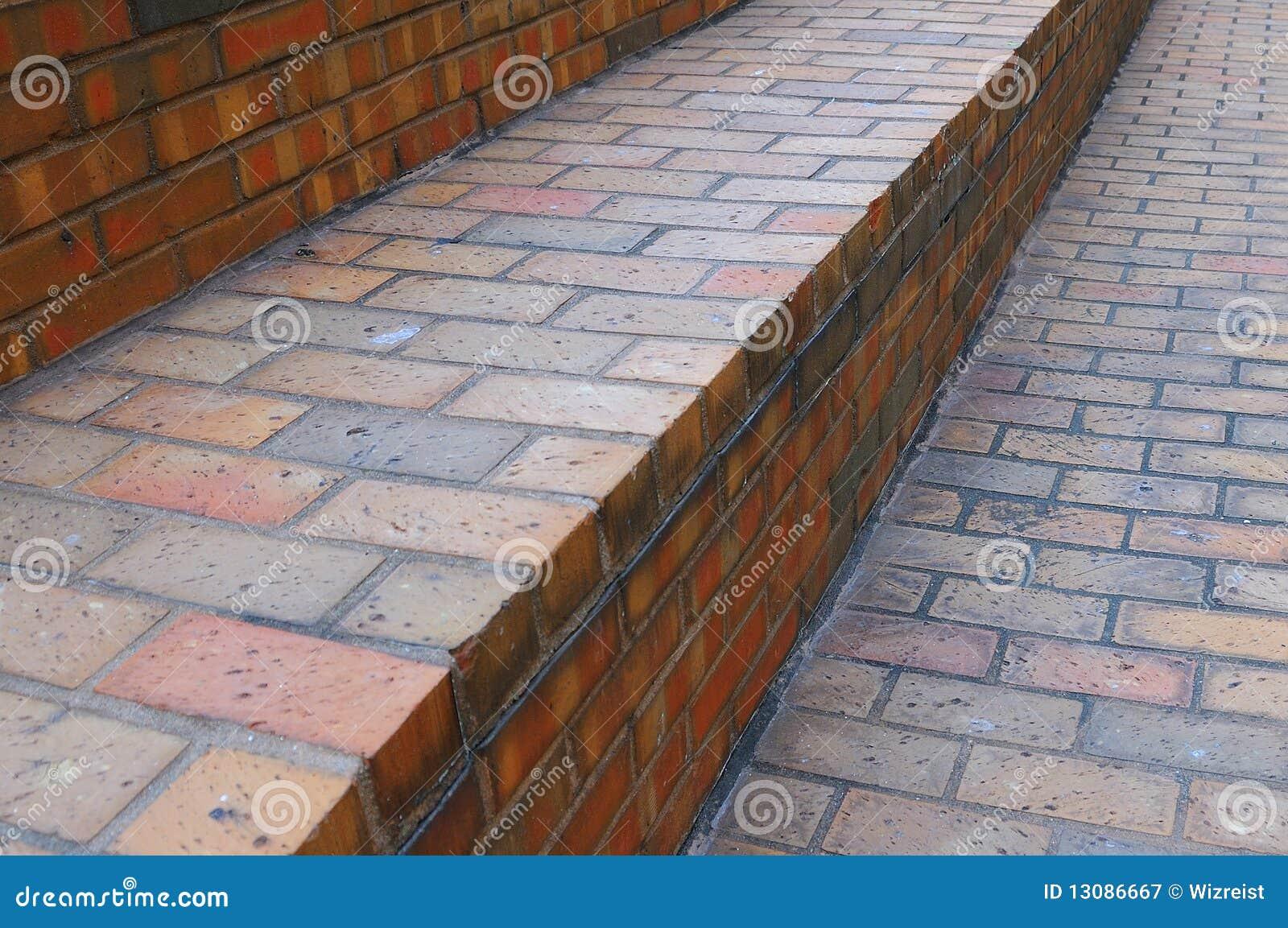 Ceglanej czerwieni schody fotografia royalty free obraz - Escaleras de ladrillo ...
