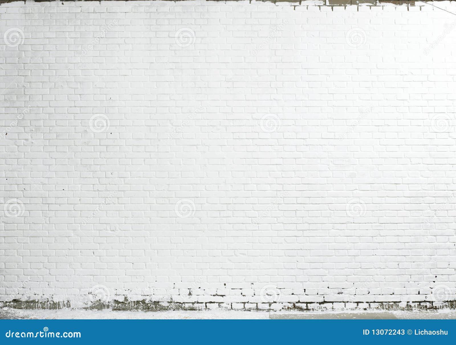 Ceglany tekstury ściany biel