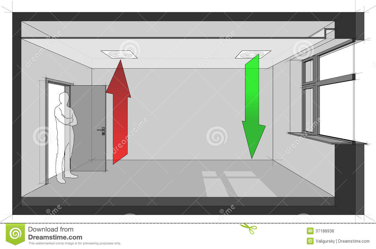 Ceiling Air Ventilation Diagram Royalty Free Stock Photos