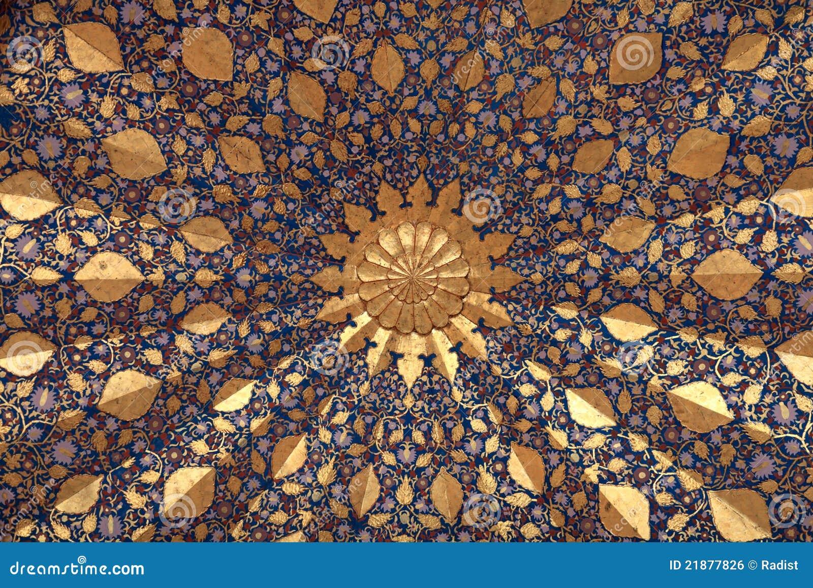 Ceiling Of Aksaray Mausoleum Royalty Free Stock Image - Image ...