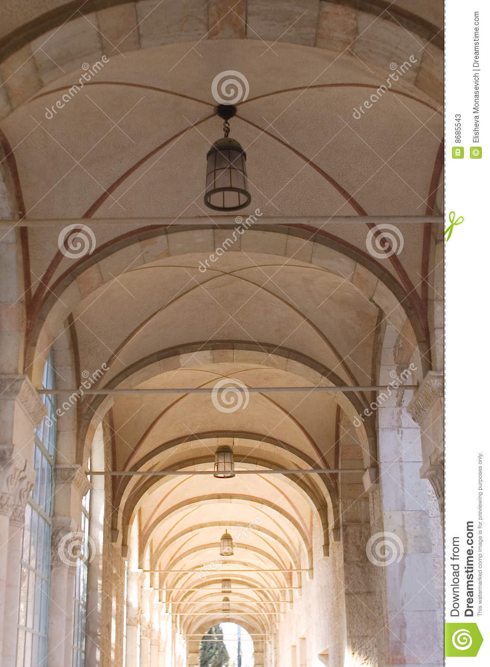 Ceiling Of Arch Corridor Stock Photos Image 8685543