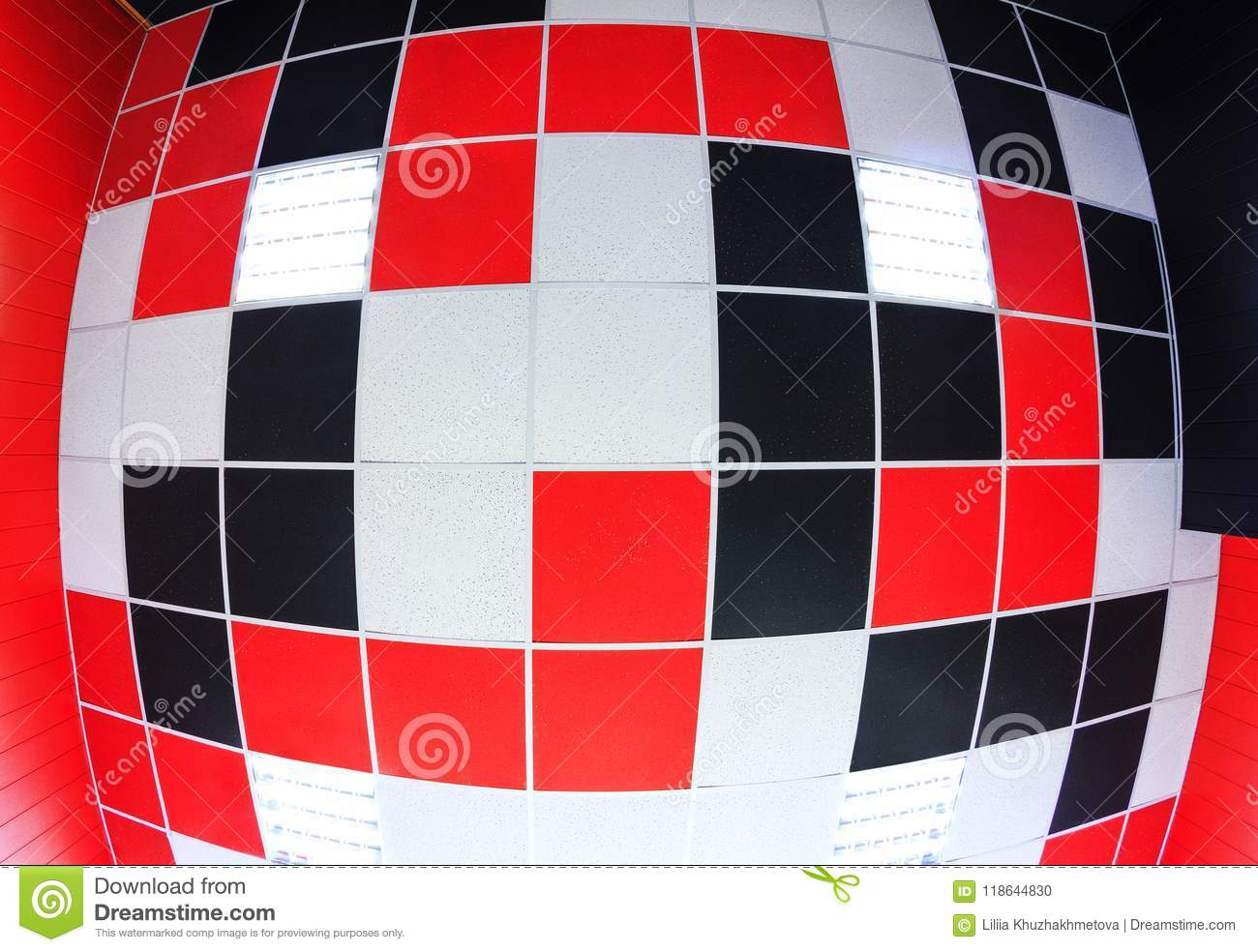 Ceiling Background With Color Tiles Stock Photo - Image of abstract ...