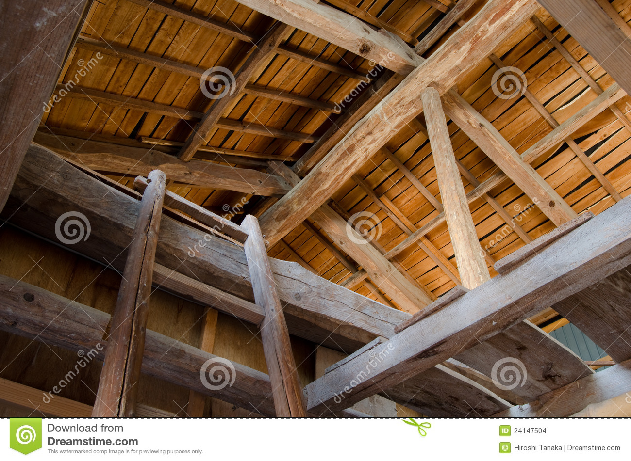 Ceiling Of Barn Stock Photo Image Of Warehouse Style