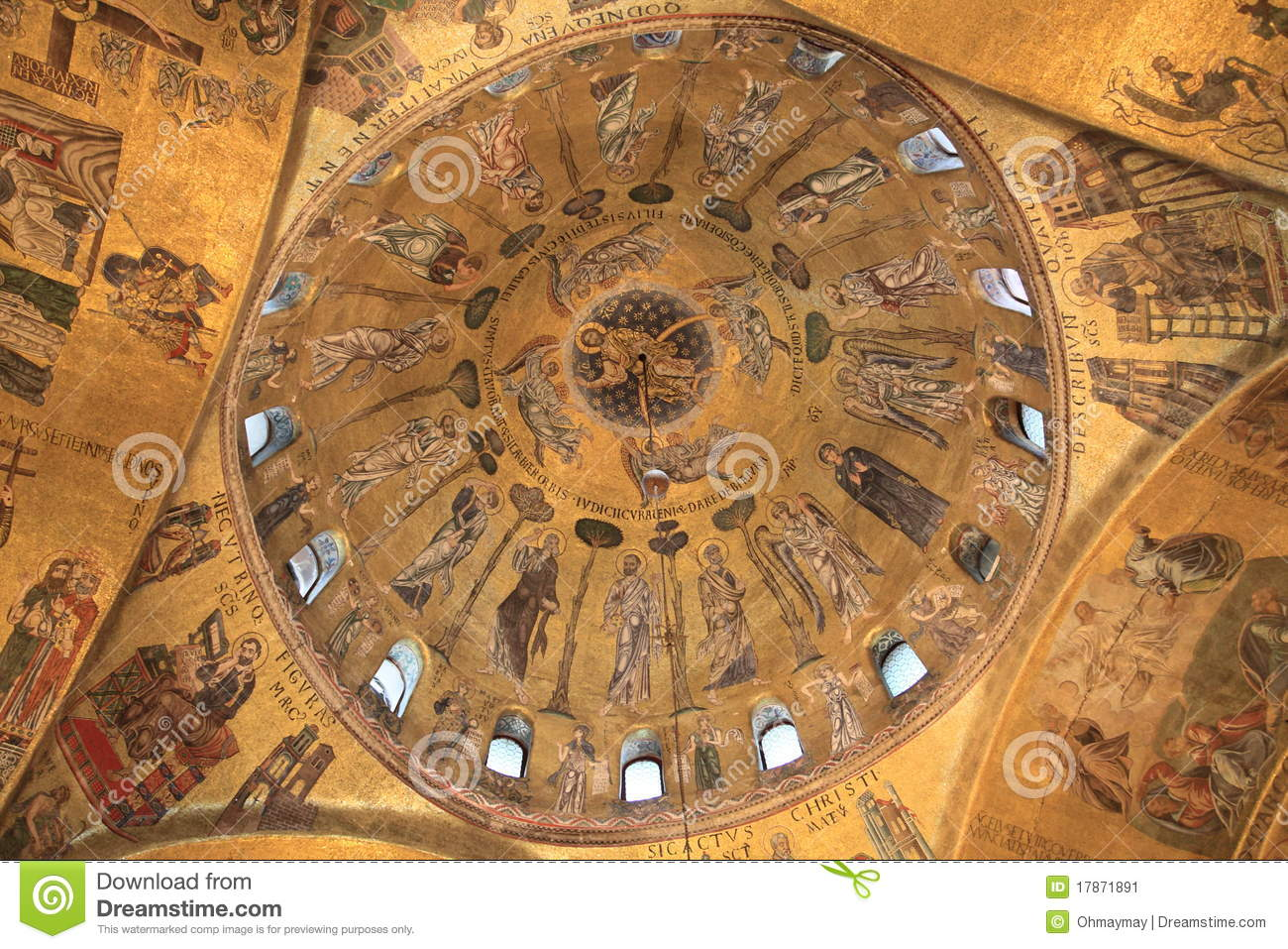Ceiling Of Basilica Di San Marco In Venice, Italy Stock Image ...