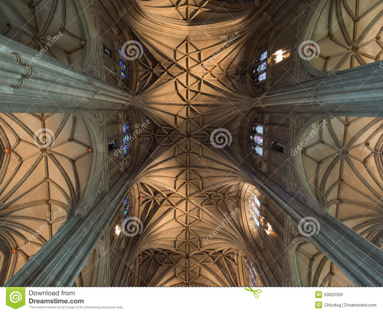 Ceiling of canterbury cathedral stock photo image 50820356 for Cathedral style ceiling