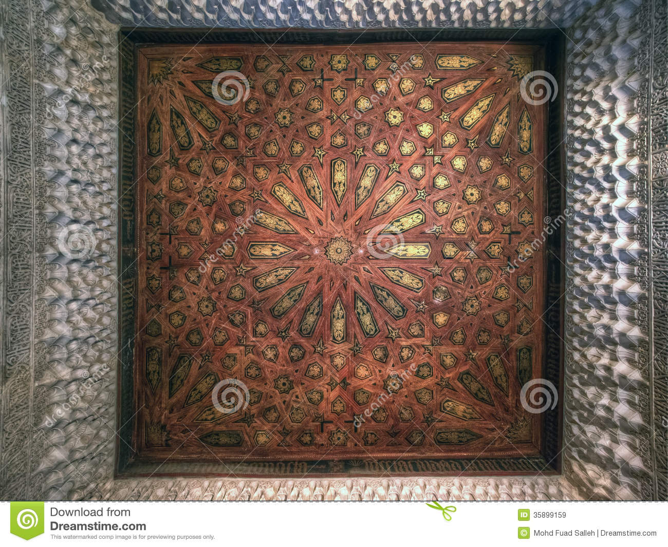 The ceiling decoration at nasrid palace alhambra for Alhambra decoration