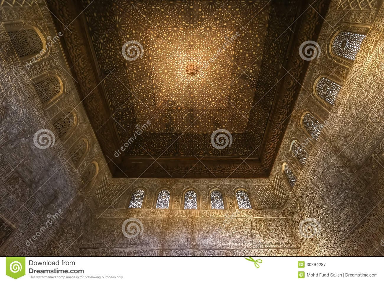 The ceiling decoration of nasrid palace alhambra spain for Alhambra decoration