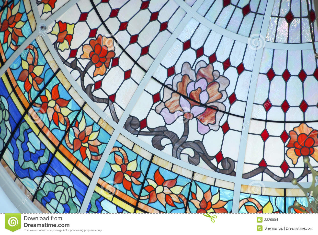 Ceiling Dome in Stained Glass