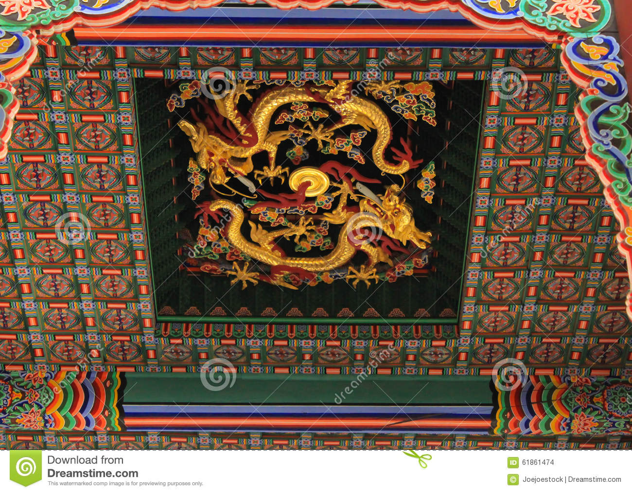 Chinese Dragon Statue From Ming Dynasty Era, At The