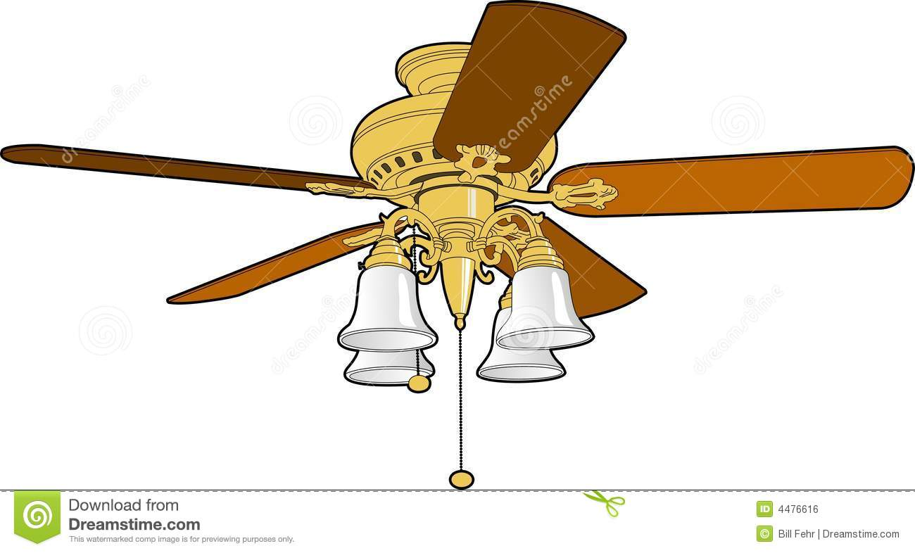 Ceiling Fan Stock Vector  Illustration Of Wire  Tool