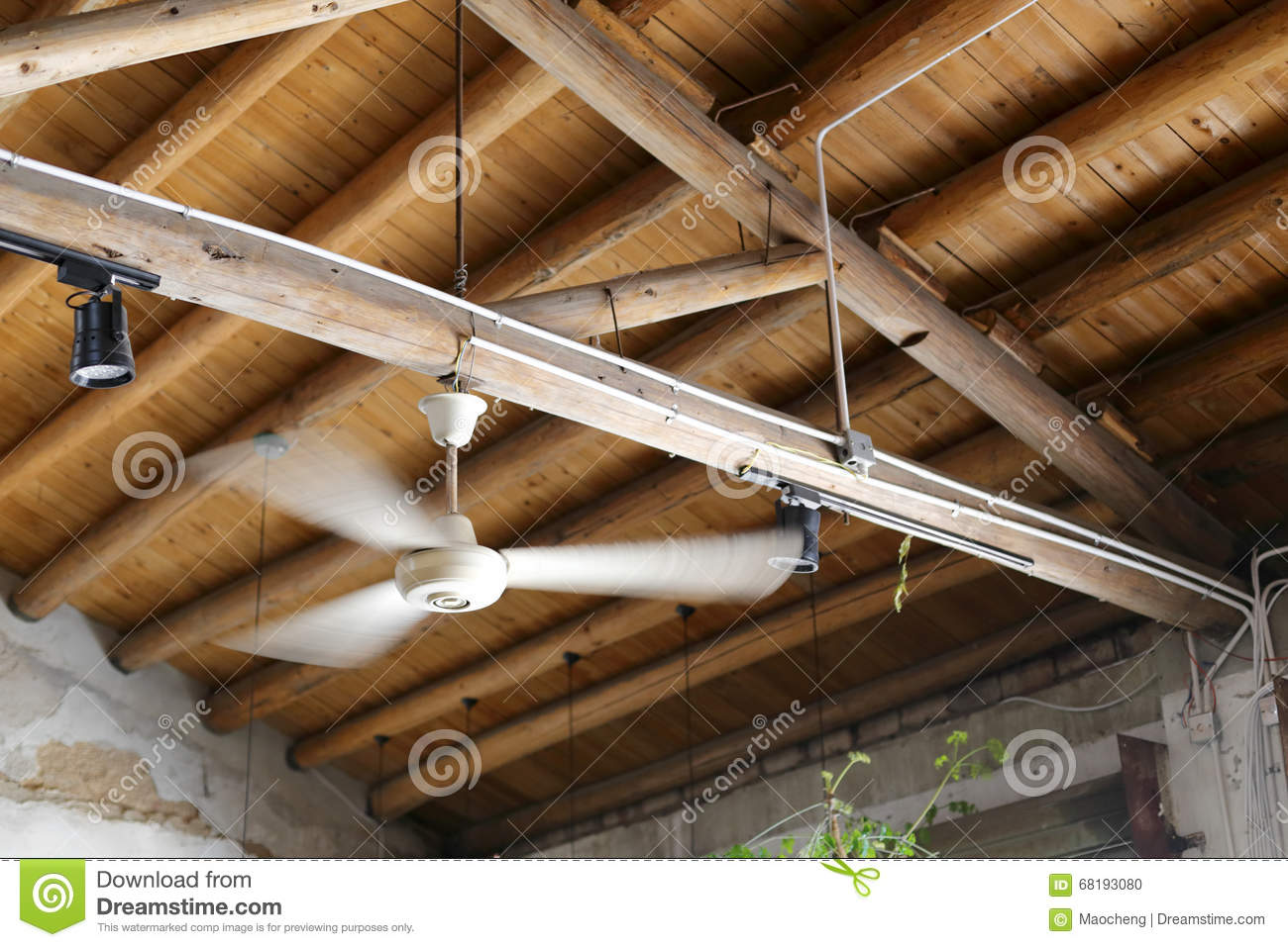 Ceiling Fan Stock Photo Image Of Antique Blades City 68193080