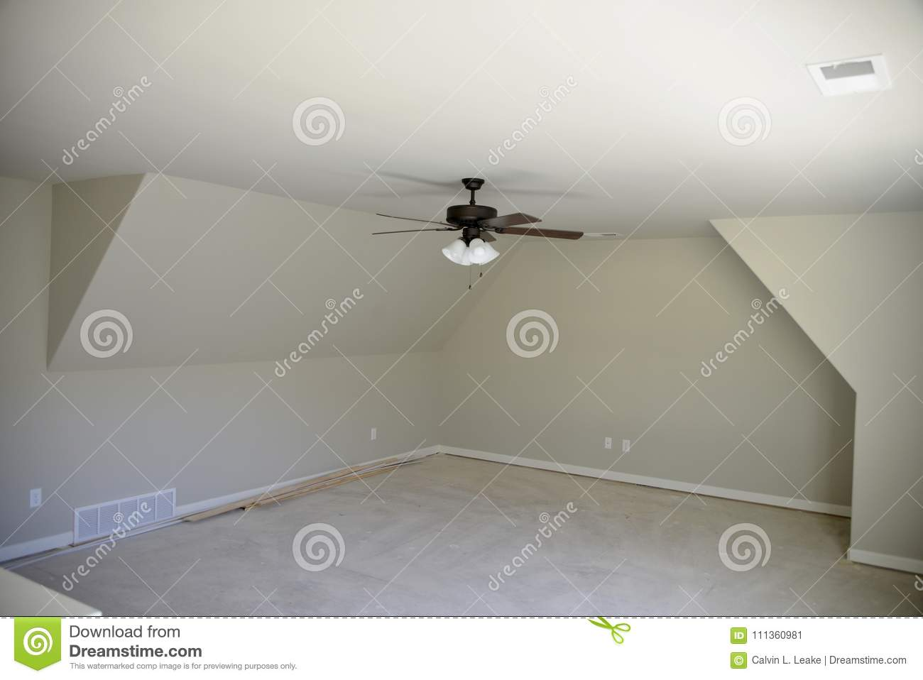 Ceiling Fan In A Bedroom Stock Image Image Of Concrete 111360981