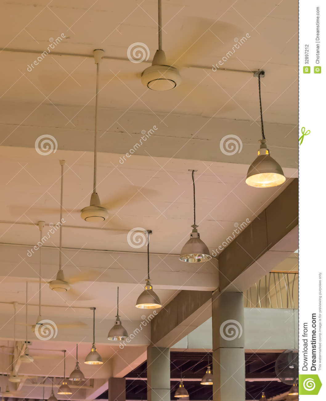 Ceiling Fan Stock Photo  Image Of Wire  Electricity  House